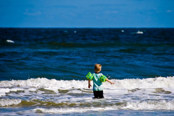 Armin faces the ocean