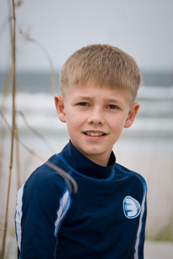 Portrait of Ethan on the beach