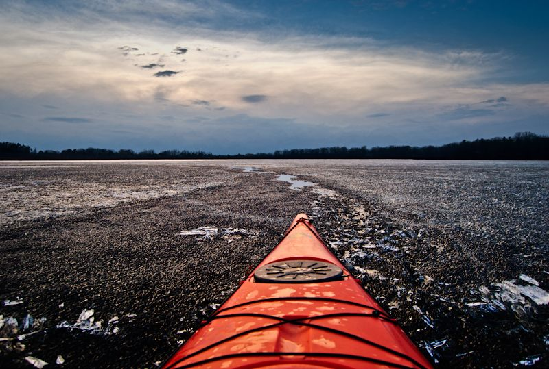 Kayak in the ice