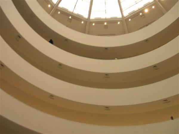 Inside of New York City's Guggenheim Museum