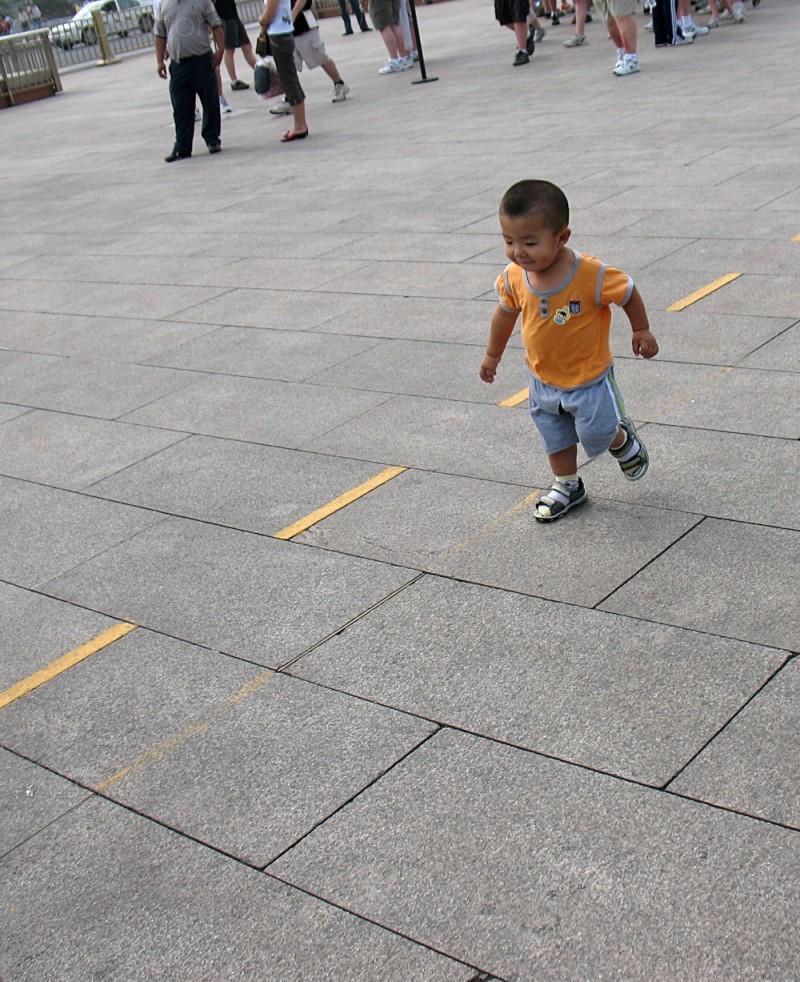 boy at Tiananmen Square