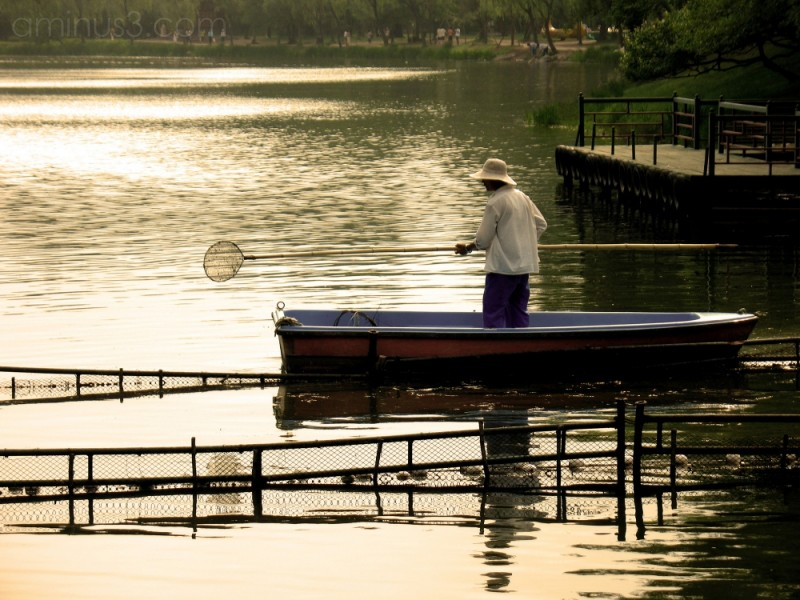 Boatman, Chengde, China