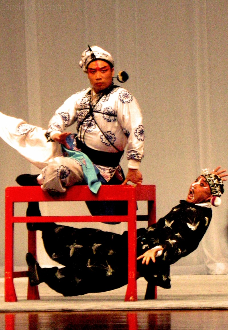 humorous scene at Peking Opera