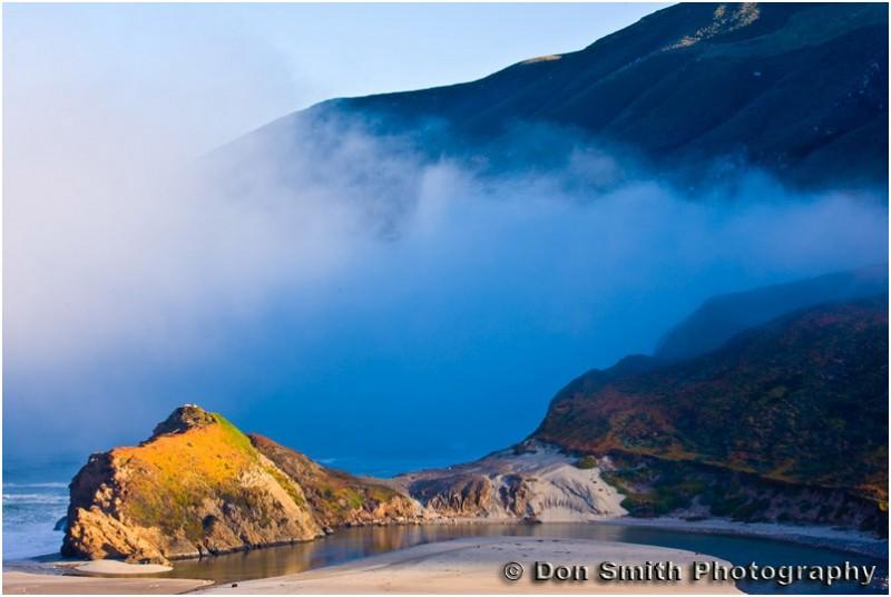coastal fog and color at Big Sur, California