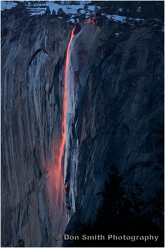 Horsetail Fall natural firefall