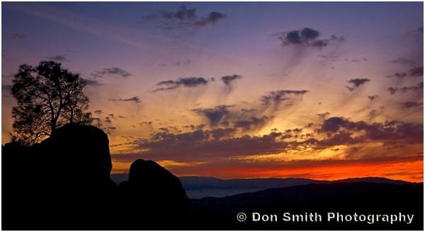Pinnacles National Monument high peaks silhouette