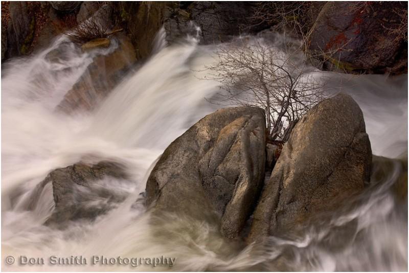 Cascade Creek wna heavy spring snowmelt