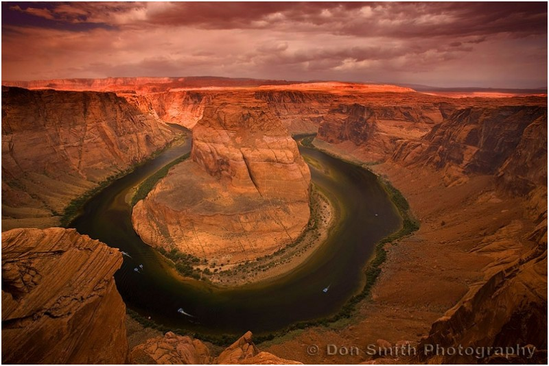 Approching storm over Horseshoe Bend