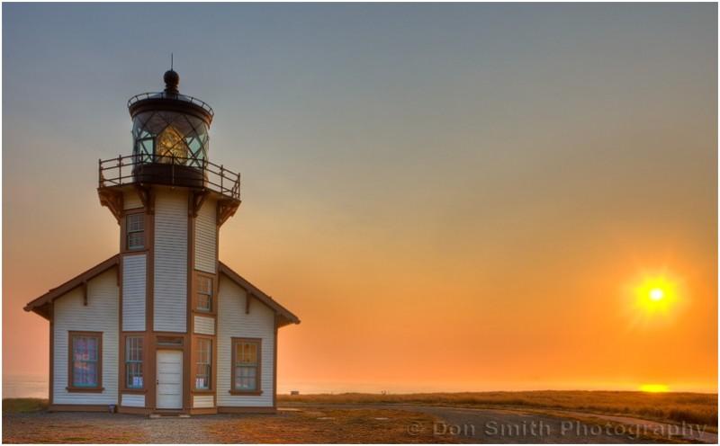 Pt. Cabrillo Lighthouse along Mendocino coast