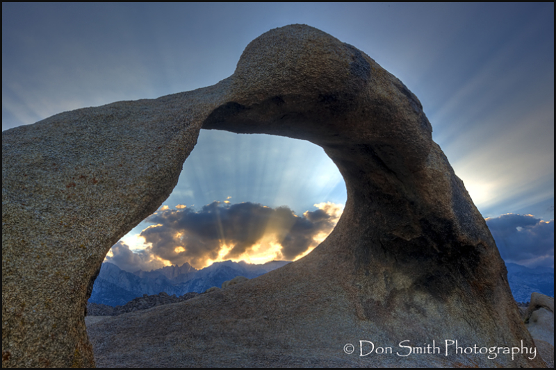 Sunbeams Over Whitney Arch