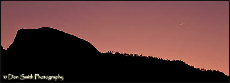 Crescent Moonrise and Half Dome