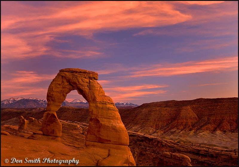 Delicate Arch and Twilight Sky