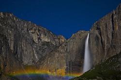 Lunar Rainbow Over Yosemite Falls