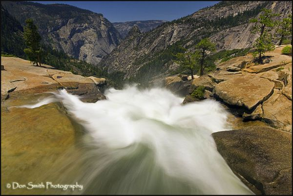 Merced River and top of Nevada Fall, Yosemite
