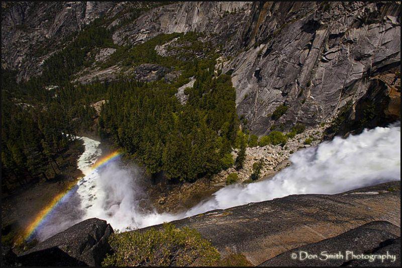 Merced River cascades over Nevada Fall, Yosemite