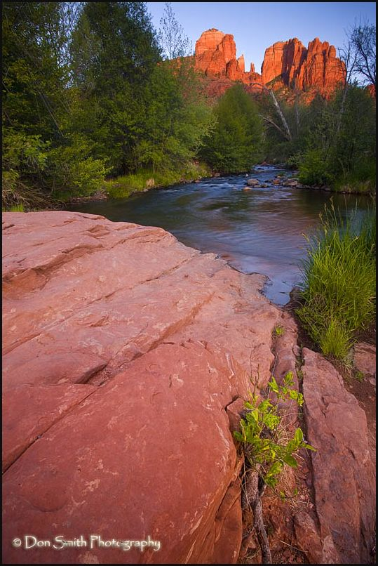 Oak Creek and Cathedral Rocks in Sedona.