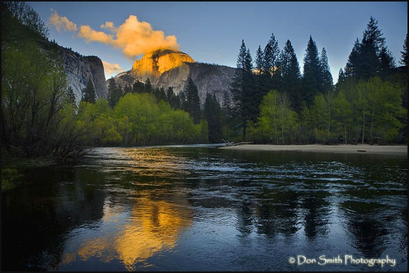 Half Dome sunset from Camp 6