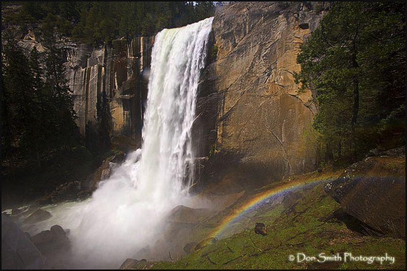 Rainbow near Vernal Fall Yosemtie.