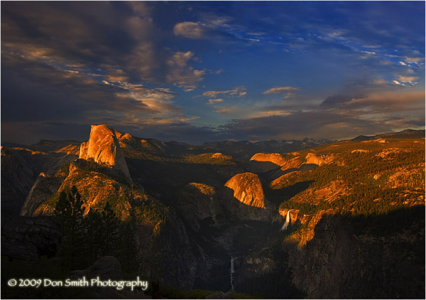 Half Dome sunset from Washburn Point, Yosemite