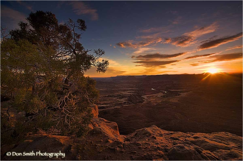 Sunset from Green River Overlook, Canyonlands.