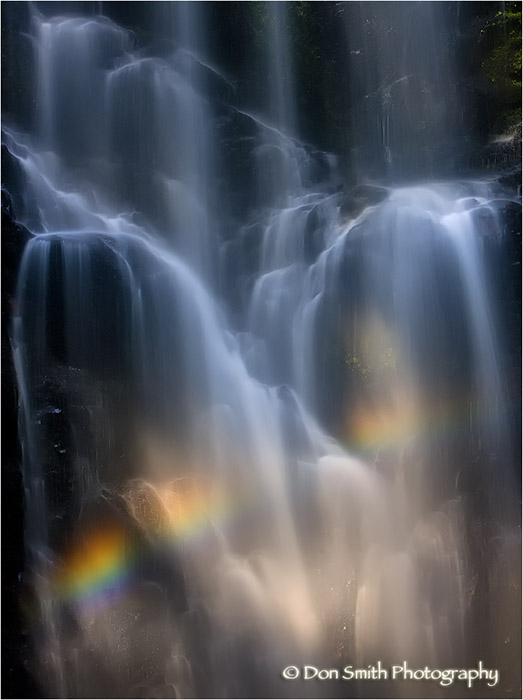 Berry Creek Falls and rainbow, Big Basin, Ca.