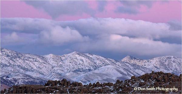 Winter Sunset on Inyo Mountains