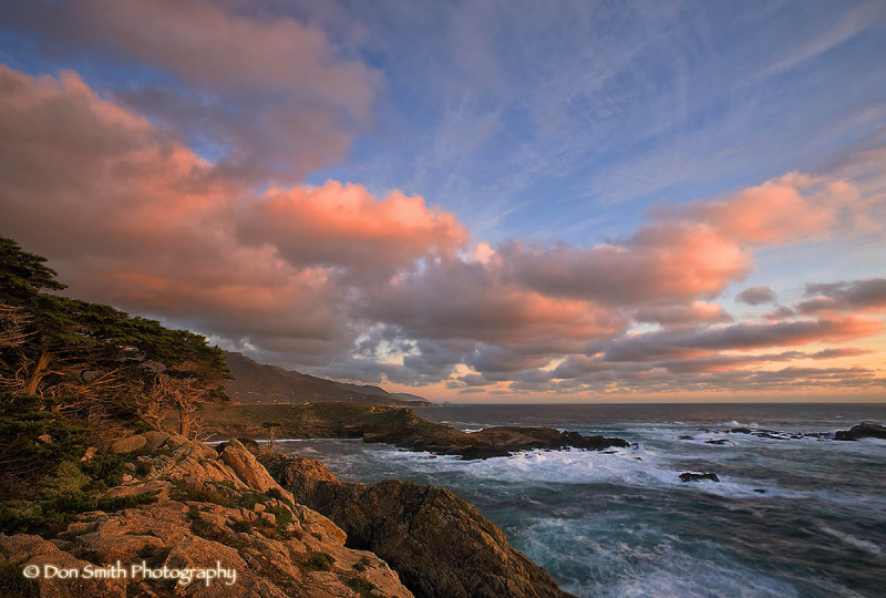Sunset Skies from northern end of Pt. Lobos.