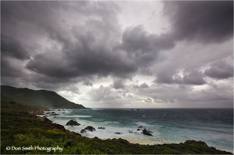 Stormy day at Garrapata State Park.