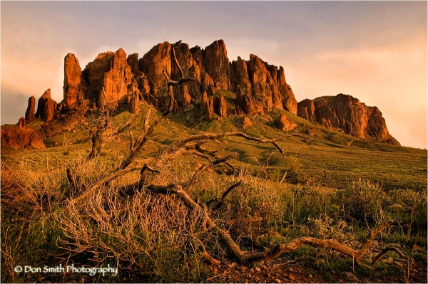 Last Light on Superstition Mountain.