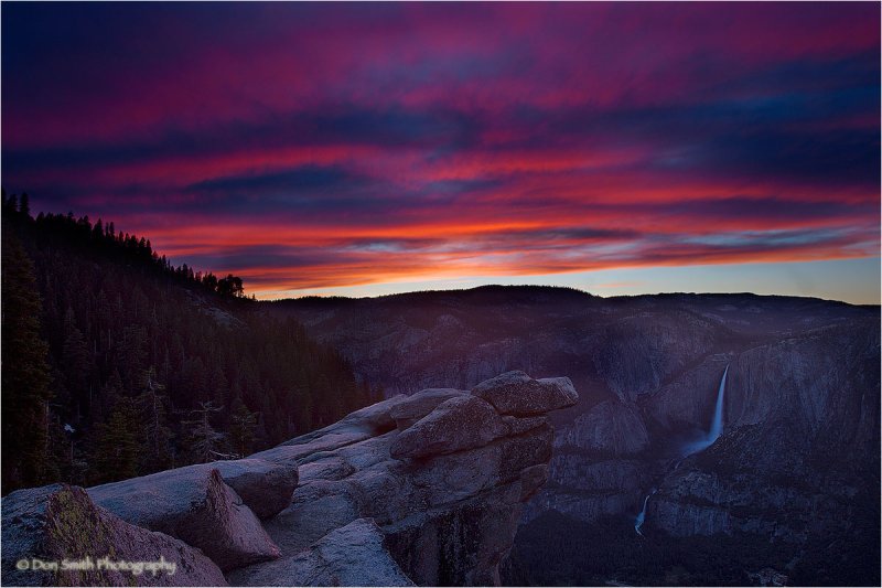 Summer sunset from Glacier Point, Yosemite NP.