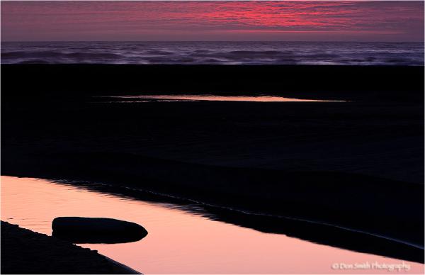 Summer evening at Gold's Bluff Beach, California