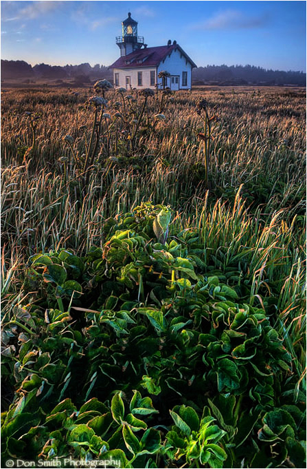Point Cabrillo Lighthouse and morning light.