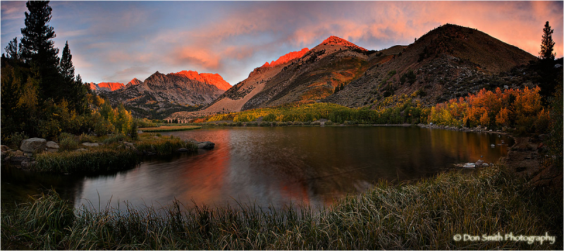 Sunrise panoramic of North Lake near Bishop, Ca.