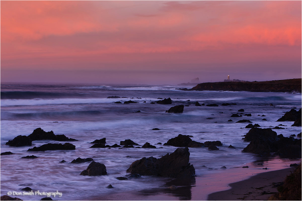 Morning Hues at Point Piedras Blancas Lighthouse.