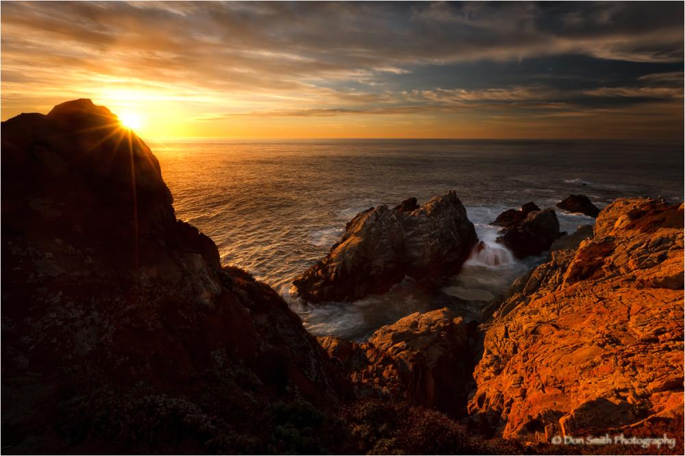 WInter sunset, Pt. Lobos, Carmel, California.