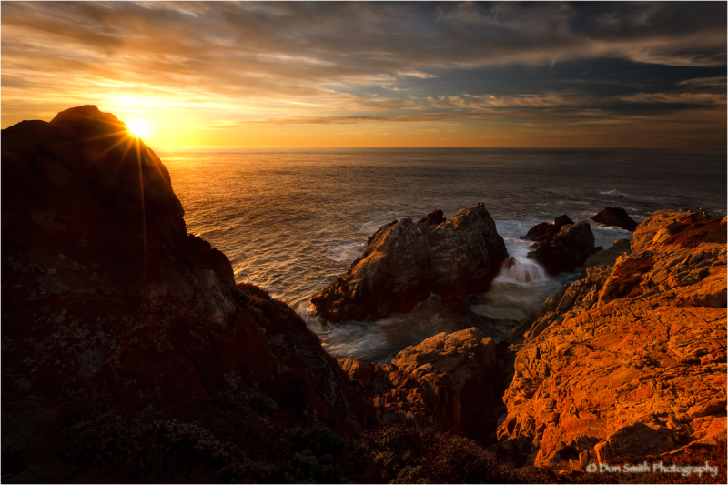 WInter sunset, Pt. Lobos, Carmel, California.