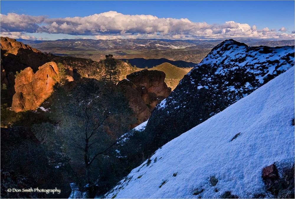 Snow on Pinnacles High Peaks.