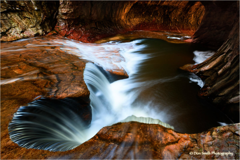 Spring runoff, The Subway, Zion National Park.