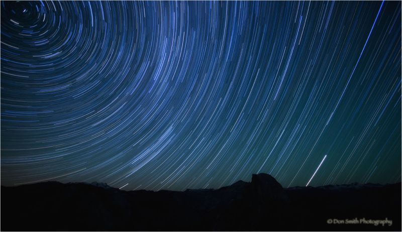 Star Trails using multiple exposures.