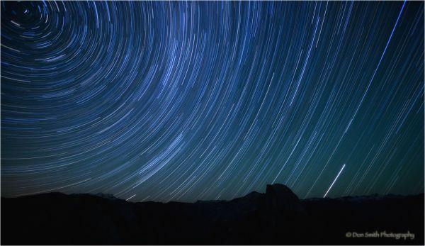 Star Trails using multiple exposures.