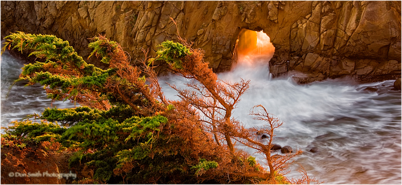 Warm winter light, Pfeiffer Arch, Big Sur, Ca.