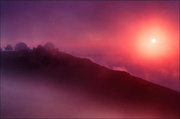 Summit light, Haleakala National Park