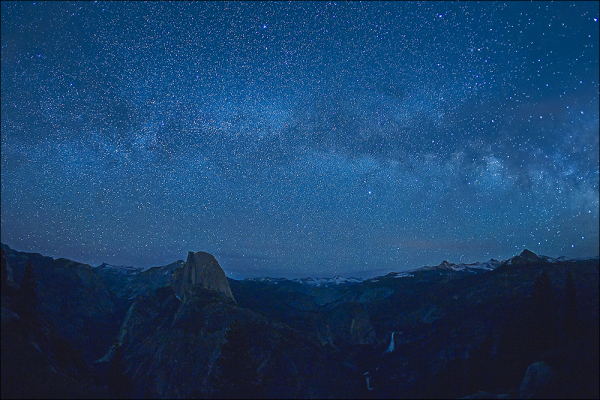 Yosemitie high country under the stars.