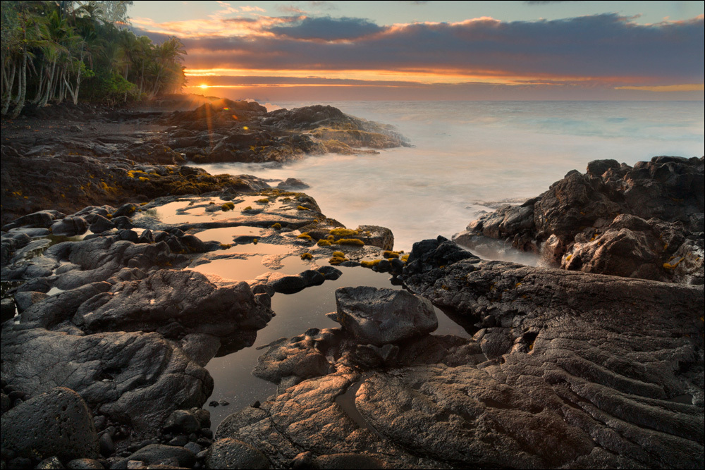 Sunrise along Puna Coast, Hilo, Hawaii
