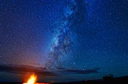 Kilauea Caldera and Milky Way, Volcanoes NP