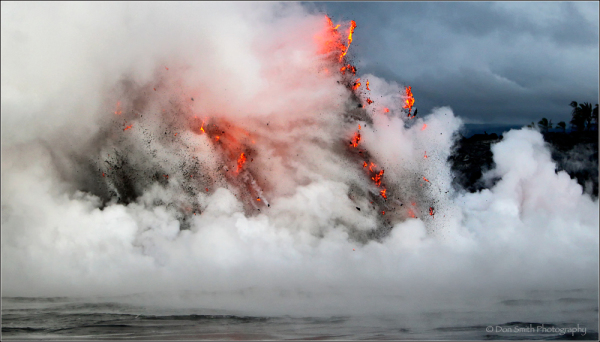 exploding lava, hawaii, kilauea