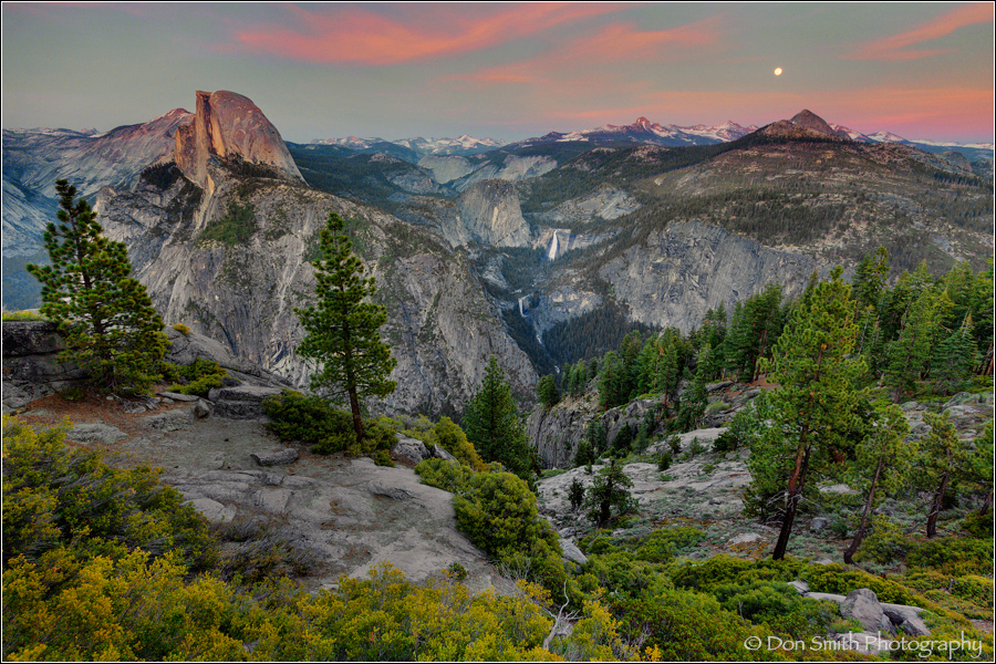 Moonrise Over Yosemite High Country