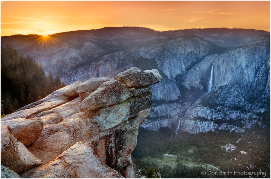Yosemite Valley Sunset From Glacier Point