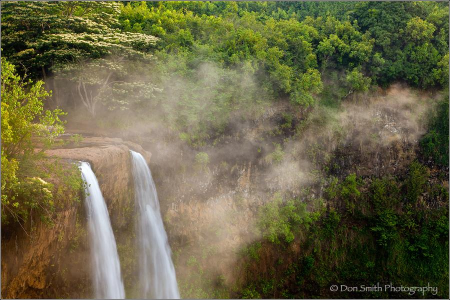 Morning Mist, Wailua Falls, Kauai