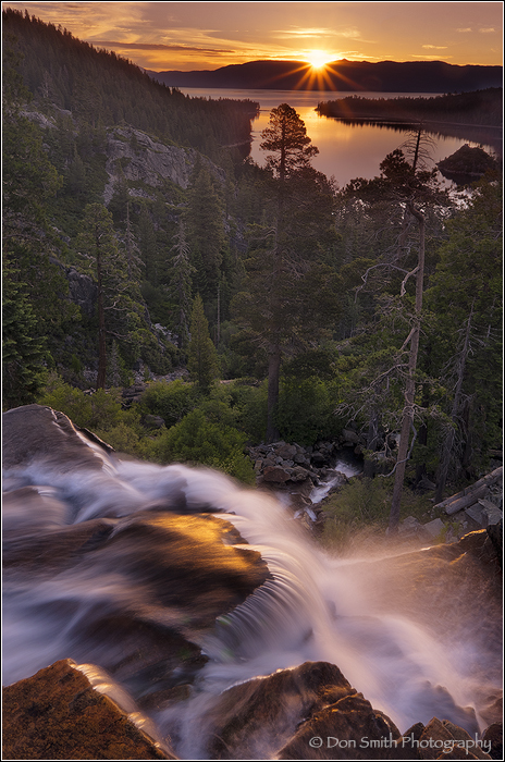 Eagle Falls Sunrise, Lake Tahoe, California, Emera